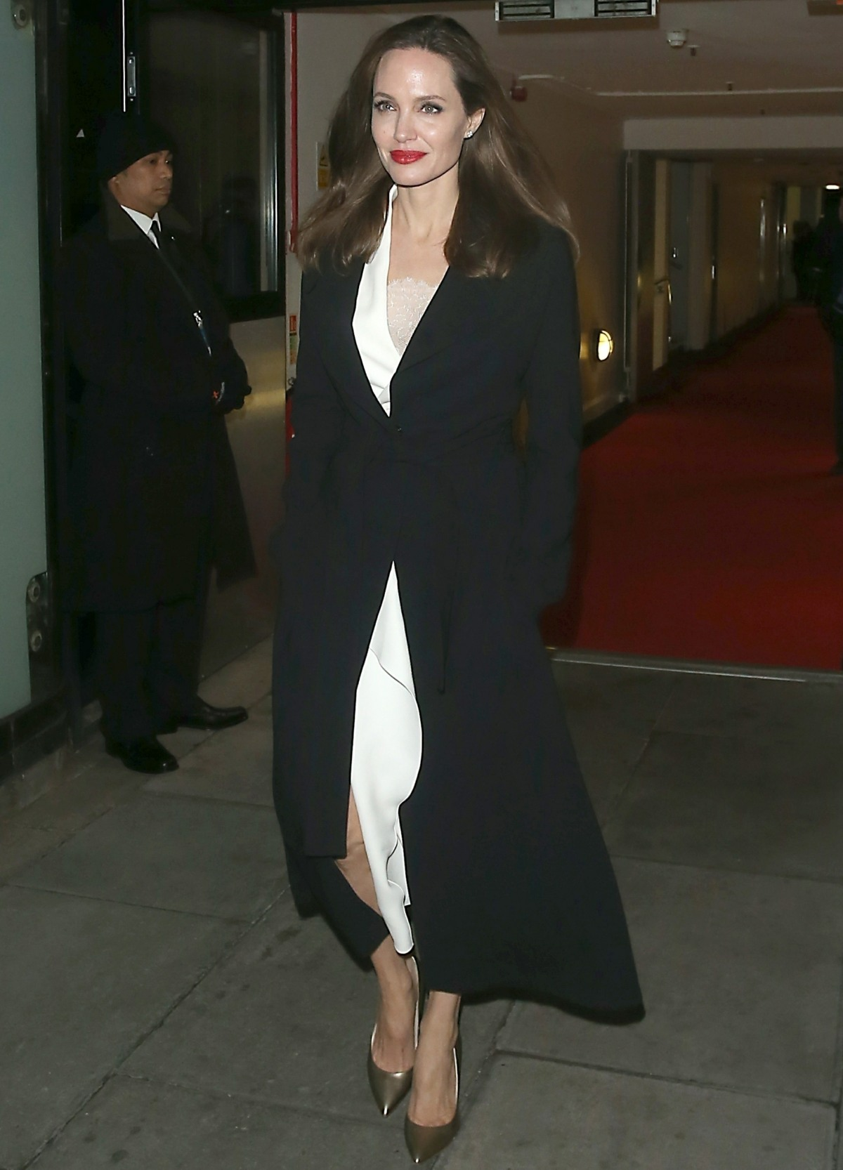 Angelina Jolie leaves The BFI after attending a Sexual Violence seminar