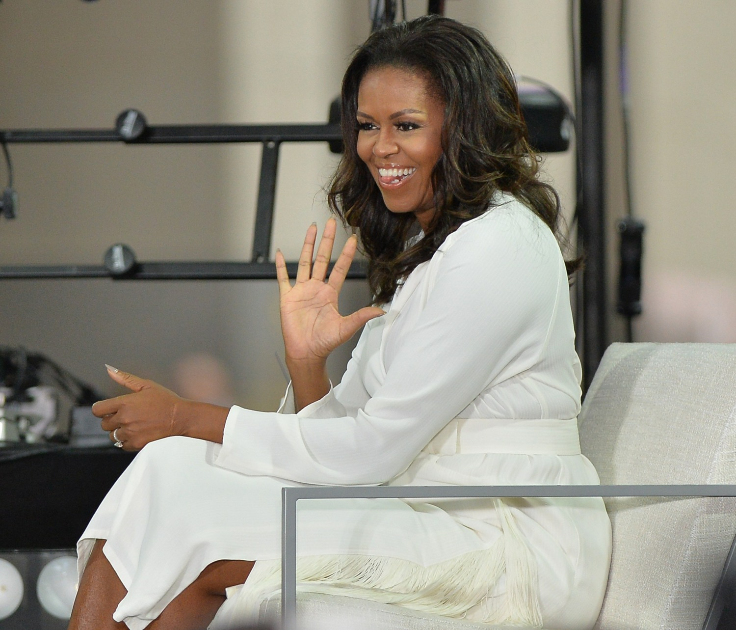 Michelle Obama at a public appearance fo...
