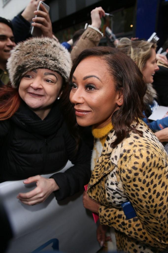 Spice Girls seen leaving Global studios