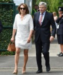 Carole Middleton and Michael Middleton at Wimbledon Tennis Tournament