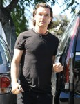 Gavin Rossdale shows off his 'guns' in LA