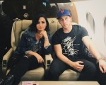 Demi Lovato has posted a photo on Instagram with the following remarks:@NickJonas and I have been having a blast on the #hondacivictour so far!! Thanks to @NetJets for getting us from stop to stop. See you tomorrow, Newark!! Instagram, 2016-07-12 11:30: