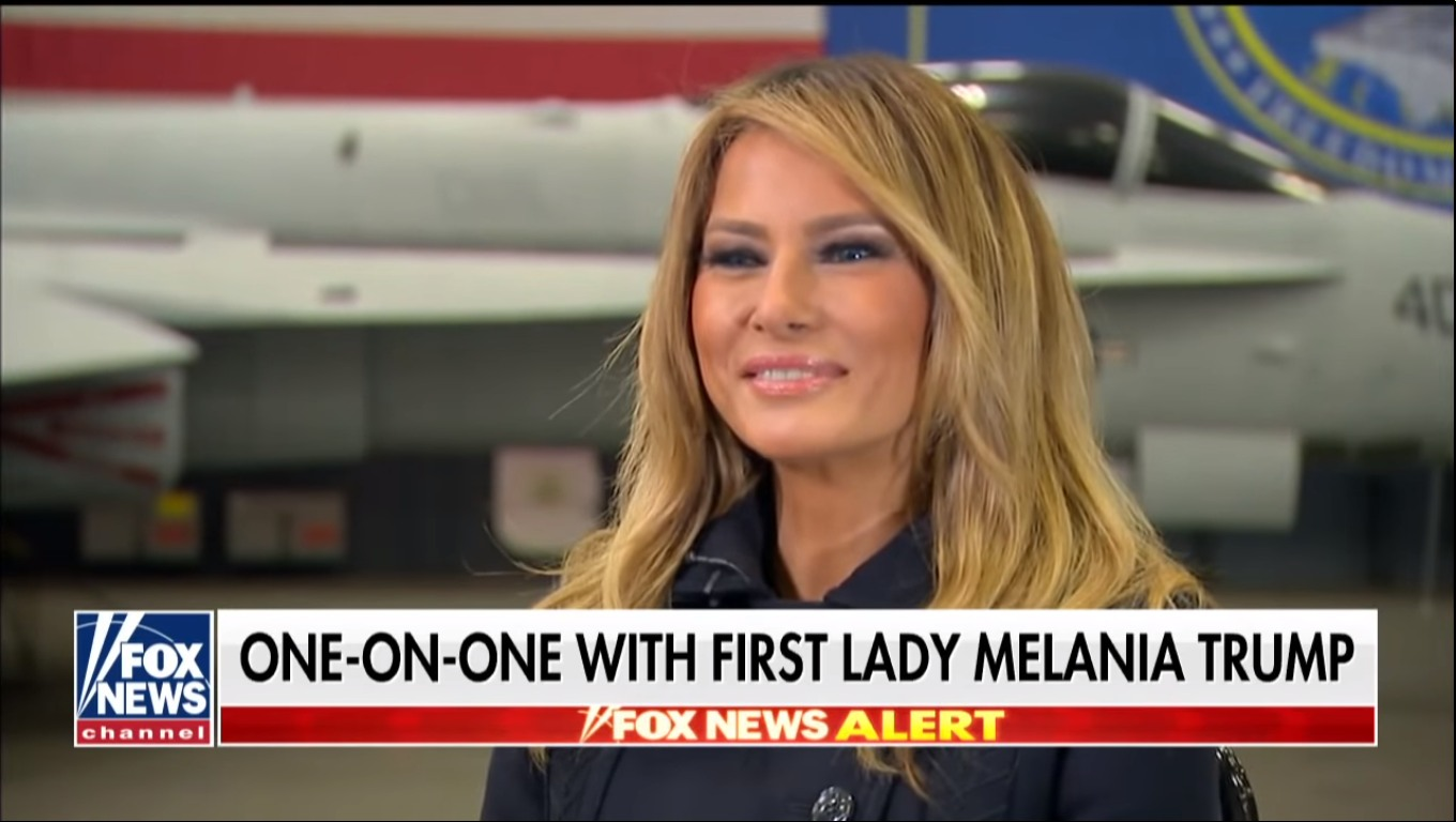 Melania Trump debuts gross-looking blonde hair, tells the same old lies