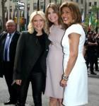 Megyn Kelly, Hoda Kotb, Savannah Guthrie at the 2018 NBC Universal Upfront Presentation at Rockefeller Center in Manhattan