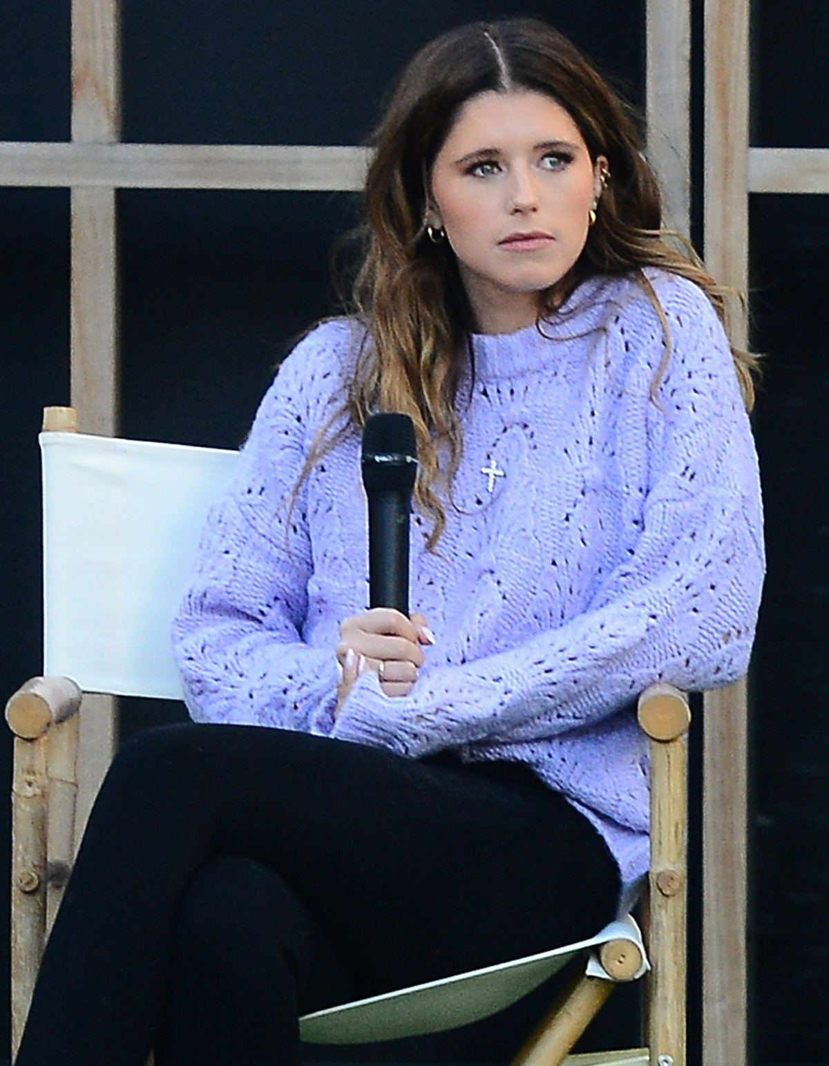 Katherine Schwarzenegger and Iskra Lawrence hold a conference at Century City Mall