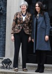Theresa May meets and greets Prime Minister of New Zealand Jacinda Ardern