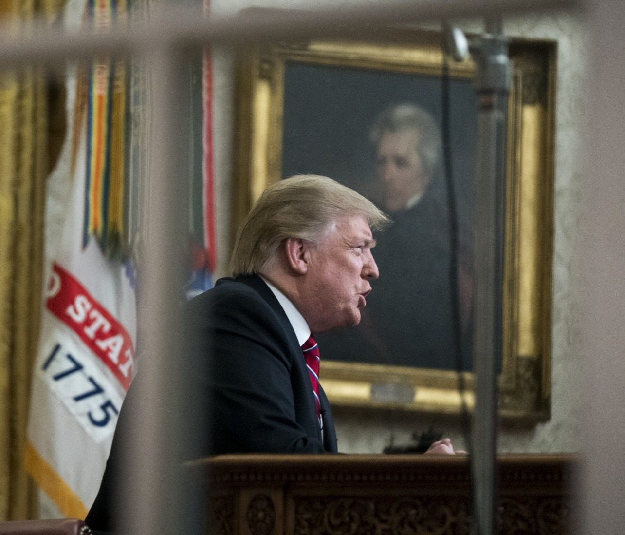 Il presidente Trump consegna un discorso a Washington, D.C.