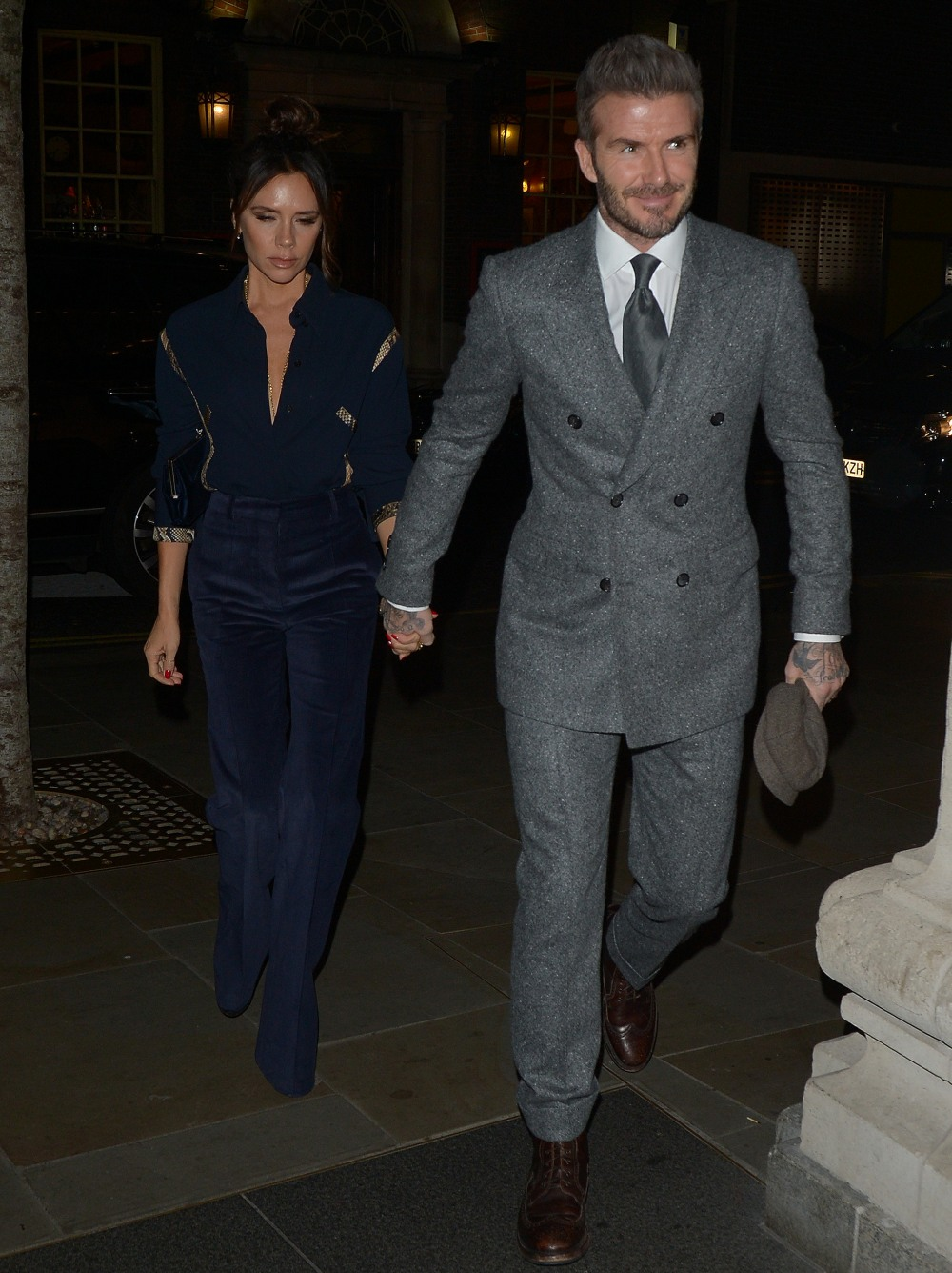 David and Victoria Beckham Out and About a Londra