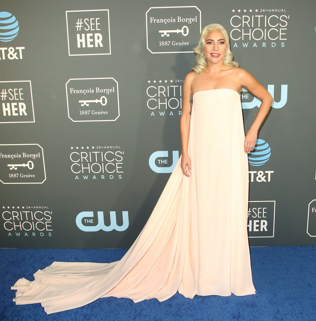 Lady Gaga in Calvin Klein at the Critics' Choice Awards: stunning & improved?