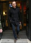 Tom Hiddleston seen leaving radio 2