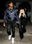 Khloe Kardashian e Tristan Thompson festeggiano una vittoria vittoriosa per i Cavalieri di Craig's a West Hollywood