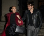 Celine Dion and Pepe Munoz exit dinner at the Girafe restaurant in Paris