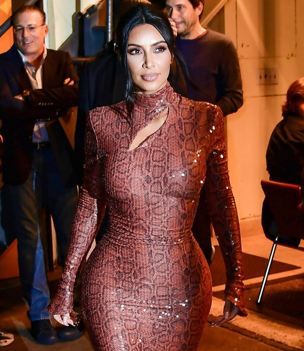 Kim Kardashian partecipa a una cena a Cipriani con indosso un abito di Thierry Mugler