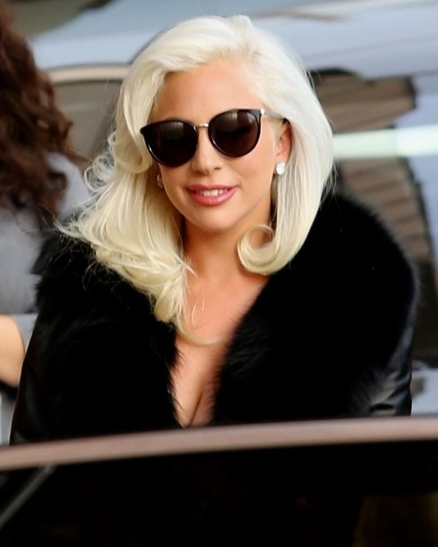 Lady Gaga arrives backstage at Jimmy Kimmel Live in Hollywood after huge Oscar win Sunday night!