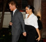 Britain's Prince Harry, Duke of Sussex, and Britain's Meghan, Duchess of Sussex arrive to attend the annual Endeavour Fund Awards at Draper's Hall in London on February 7, 2019. - The Royal Foundation's Endeavour Fund Awards celebrate the achievements of wounded, injured and sick servicemen and women who have taken part in sporting and adventure challenges over the last year.