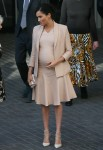Pregnant Duchess of Sussex Meghan visiting the National Theatre for the first time as the theatre new Royal Patron - London