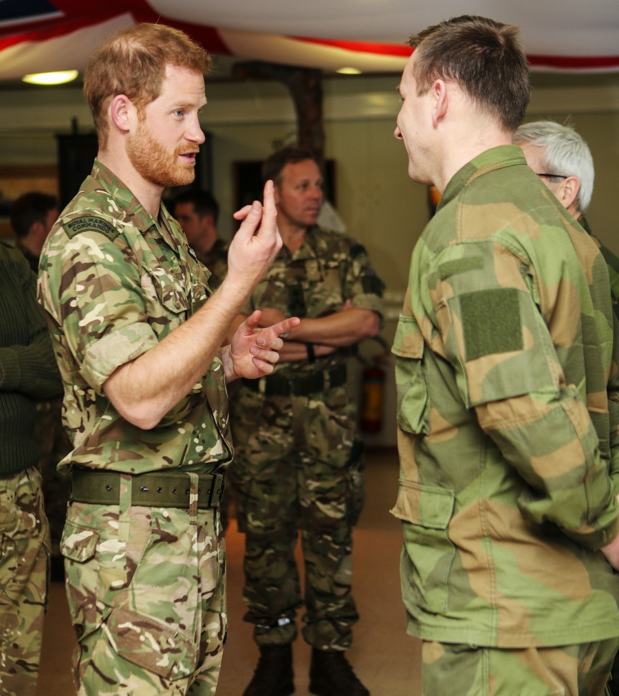 Prince Harry visits Bardufoss Air Force Base