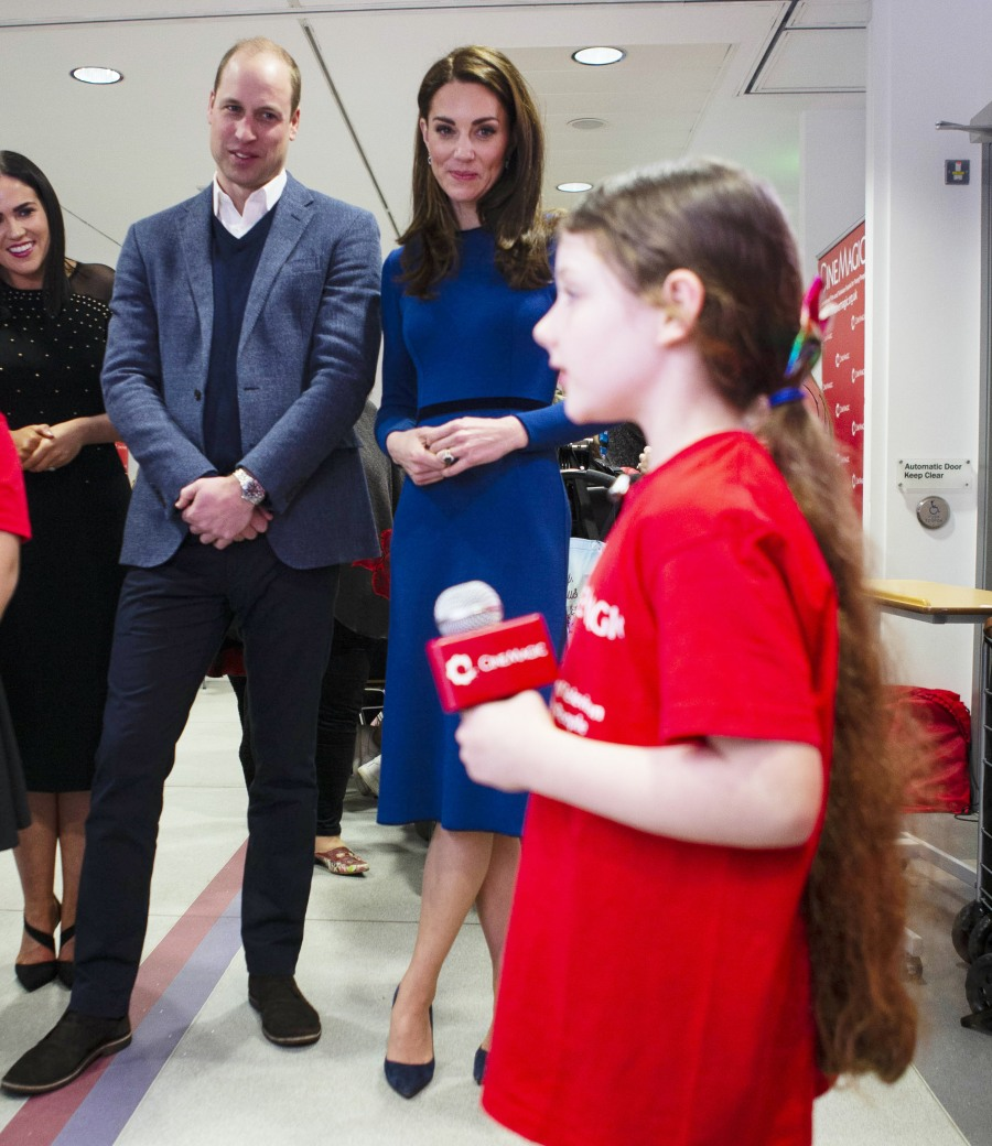 The Duke and Duchess of Cambridge visit the Cinemagic in Ballymena
