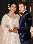 Priyanka Chopra and Nick Jonas seen arriving at their wedding reception in Delhi