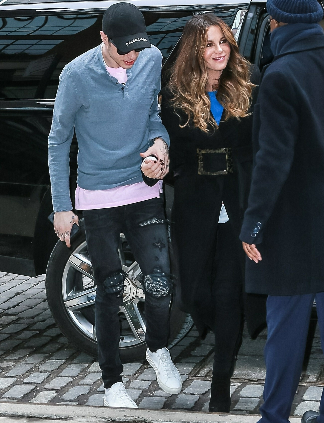Pete Davidson holds hands while out with girlfriend Kate Beckinsale