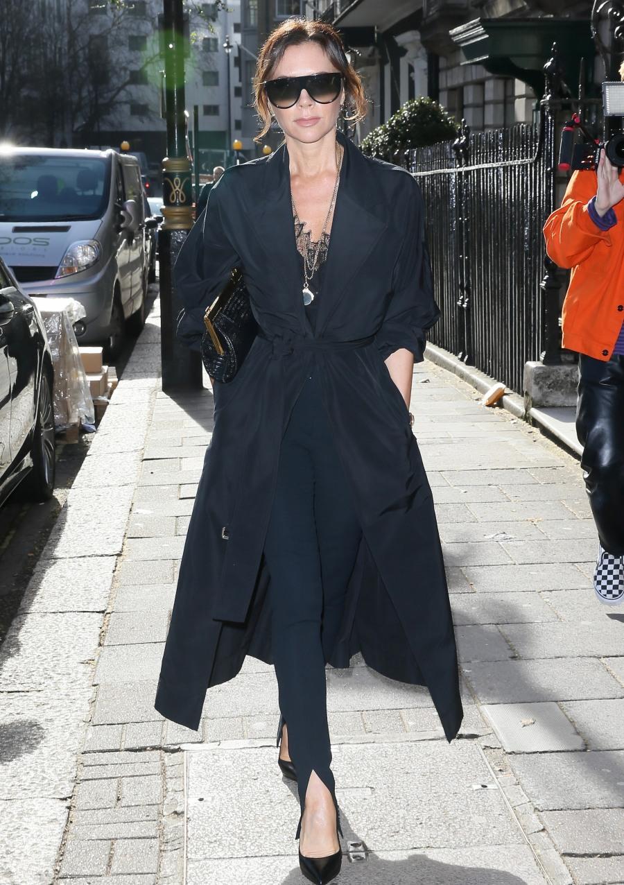 Victoria Beckham seen arriving at Annabels
