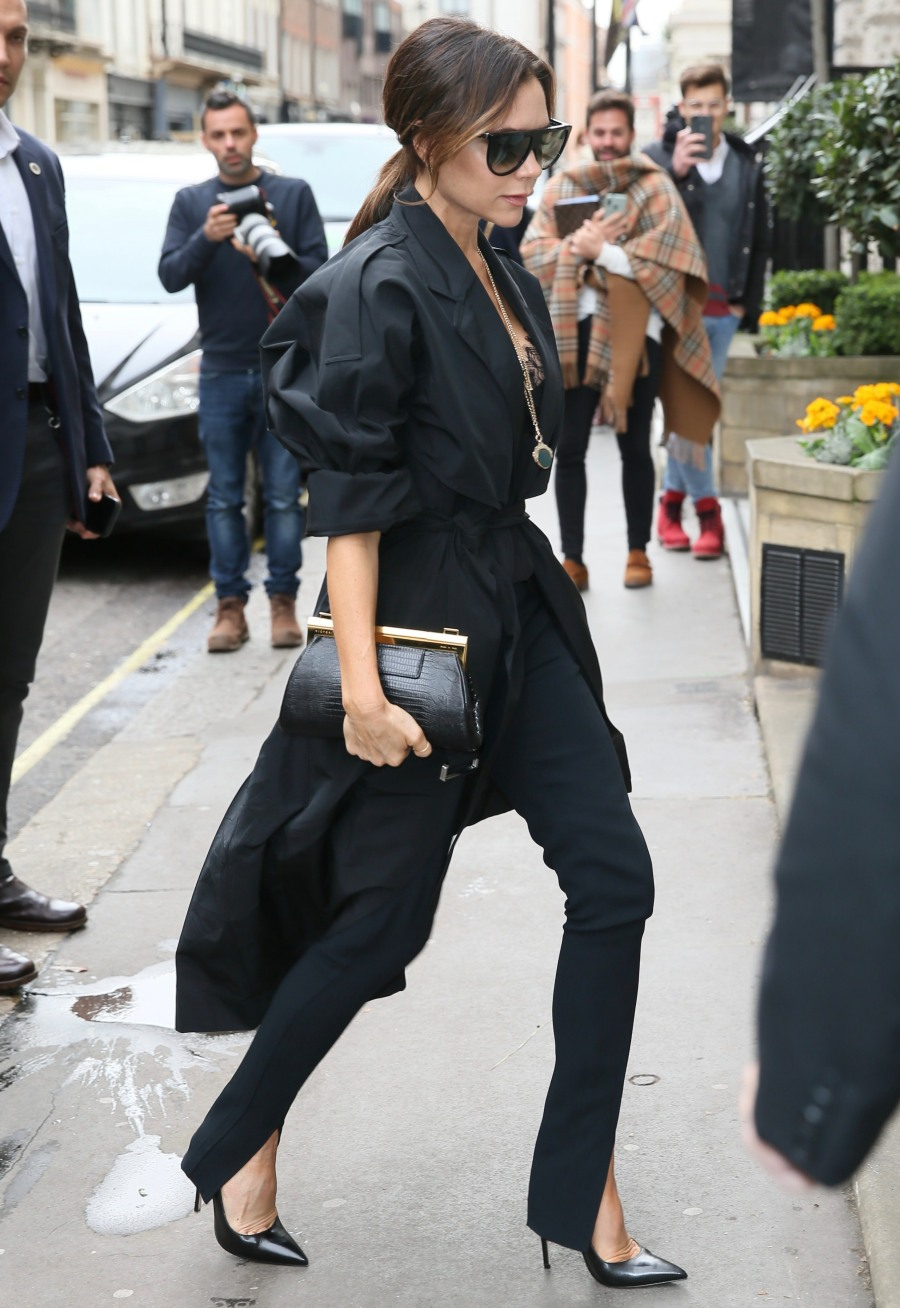 Victoria Beckham seen arriving at her clothing store
