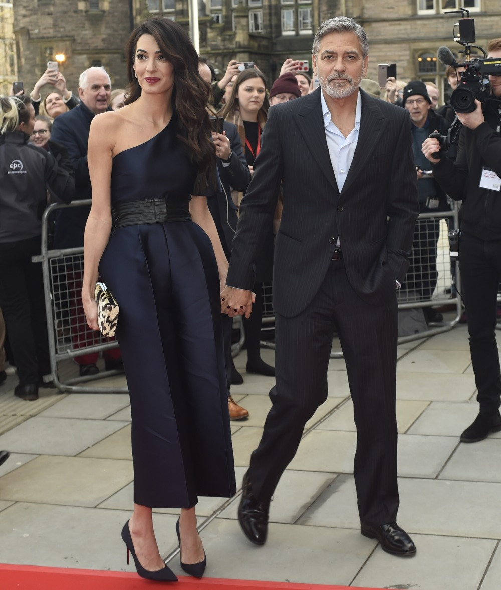 George and Amal Clooney attend the People's Postcode Lottery Charity Gala
