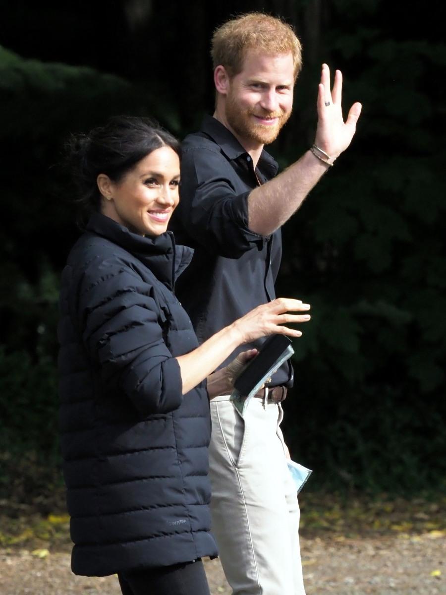 Il Duca di Sussex e la Duchessa di Sussex visitano il Redwoods Treewalk a Rotorua