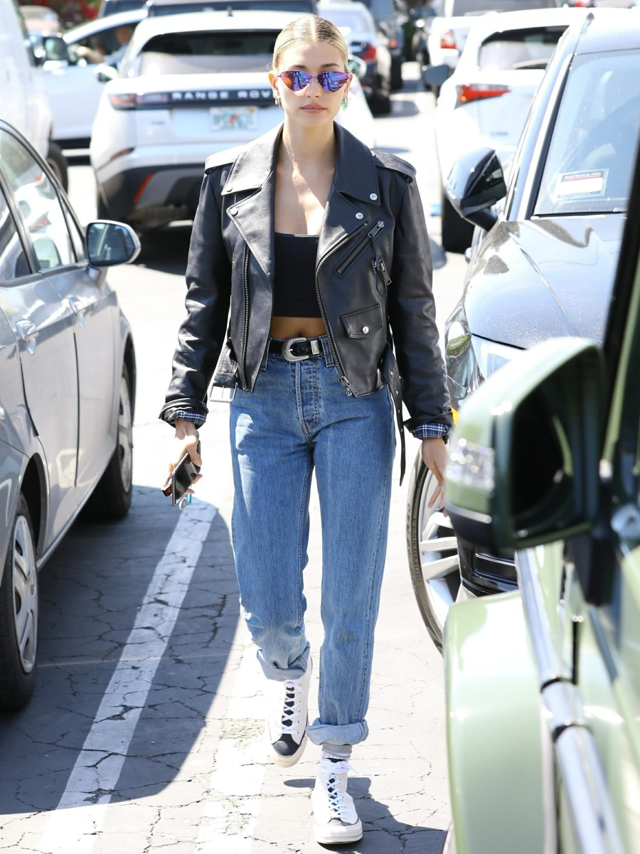 Celebrity Beauty: Hayley Baldwin lunches at Fred Segal in West Hollywood