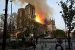 Notre Dame Cathedral goes up in flames in Paris