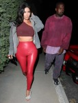 Kim Kardashian and Kanye West leave Travis Scott's birthday party