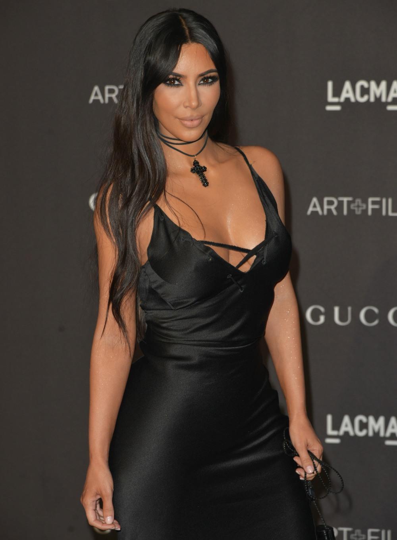Kim &  Kourtney Kardashian look gorgeous on the black carpet at the 2018 LACMA Art + Film Gala