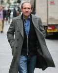 Ralph Fiennes arriving at Global Radio Studios to promote his new Film 'The White Crow' - London