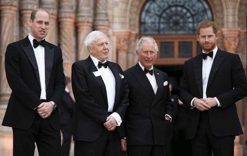 Il Principe Carlo, Sua Altezza Reale il Principe William e Sua Altezza Reale il Principe Harry con il Signore