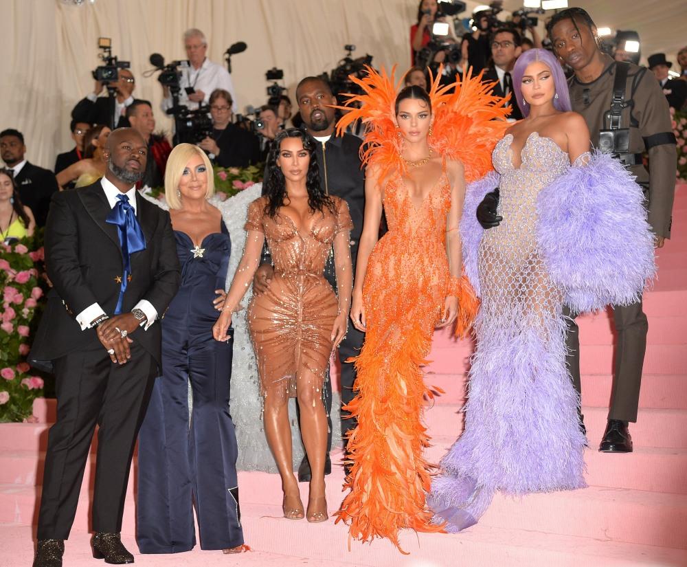 Corey Gamble, Kris Jenner, Kanye West, K ...