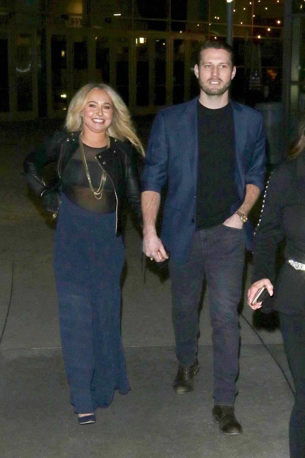 Hayden Panettiere and Brian Hickerson enjoy a date night at ArcLight Theatre in Hollywood