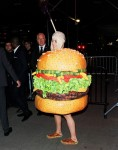 Katy Perry dresses as a burger