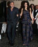 George Clooney and his wife Amal Clooneycut sophisticated figures when in Rome!