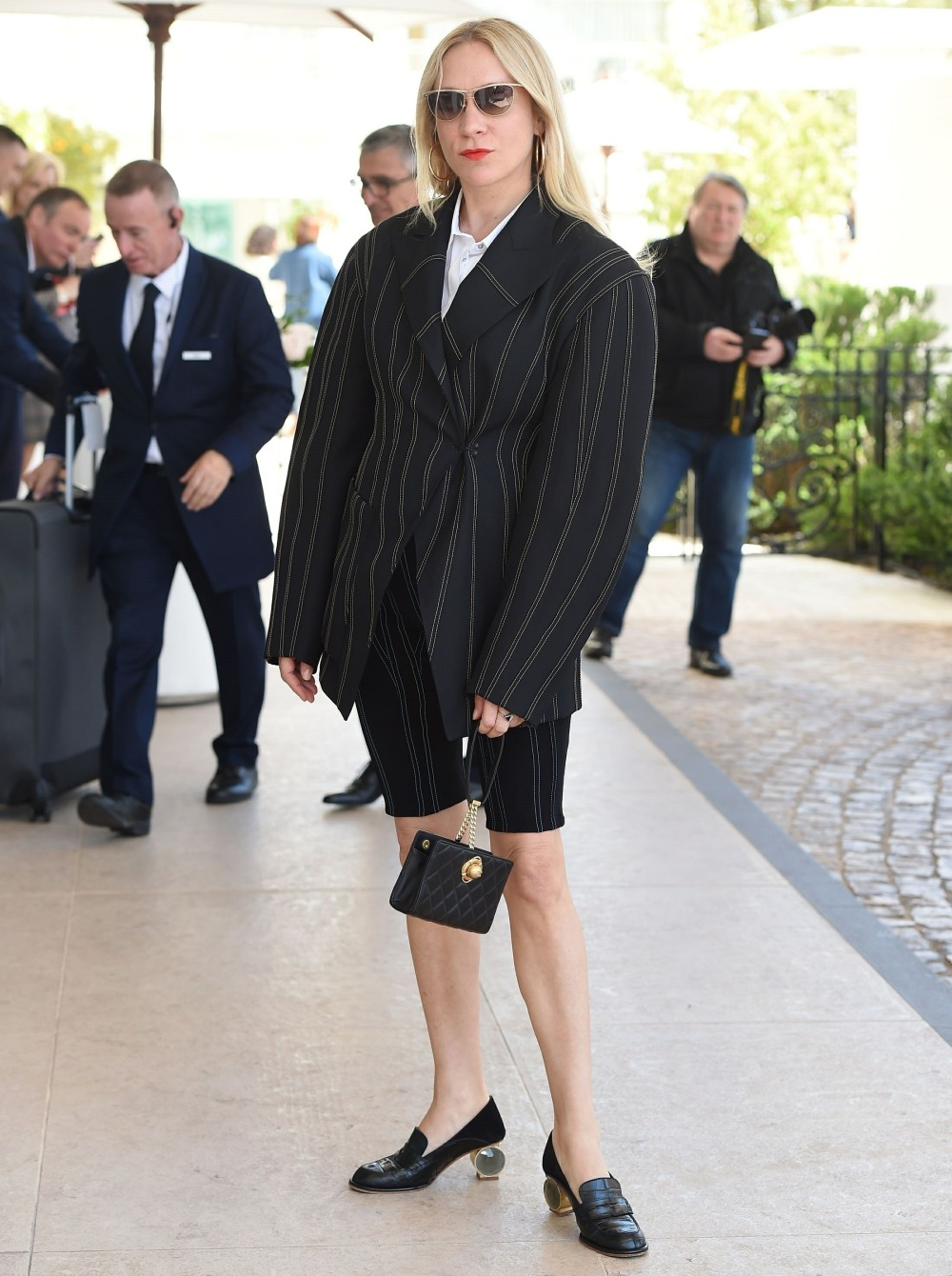 Chloe Sevigny arriva all'Hotel Martinez di Cannes
