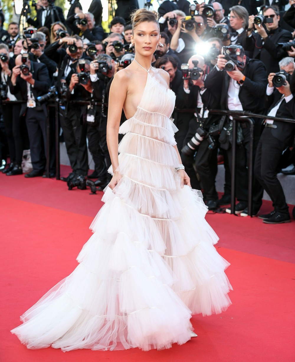 "Bella Hadid attends the screening of ""Rocket Man"" during the 72nd annual Cannes Film Festival on May 16, 2019 in Cannes, France."