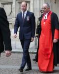 Il principe William, duca di Cambridge, assiste un servizio presso l'abbazia di Westminster per riconoscere cinquanta anni di deterrente continuo in mare