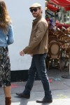 Michael Fassbender seen arriving at the Global studios