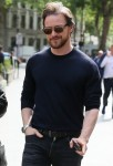 James McAvoy seen arriving at the global studios