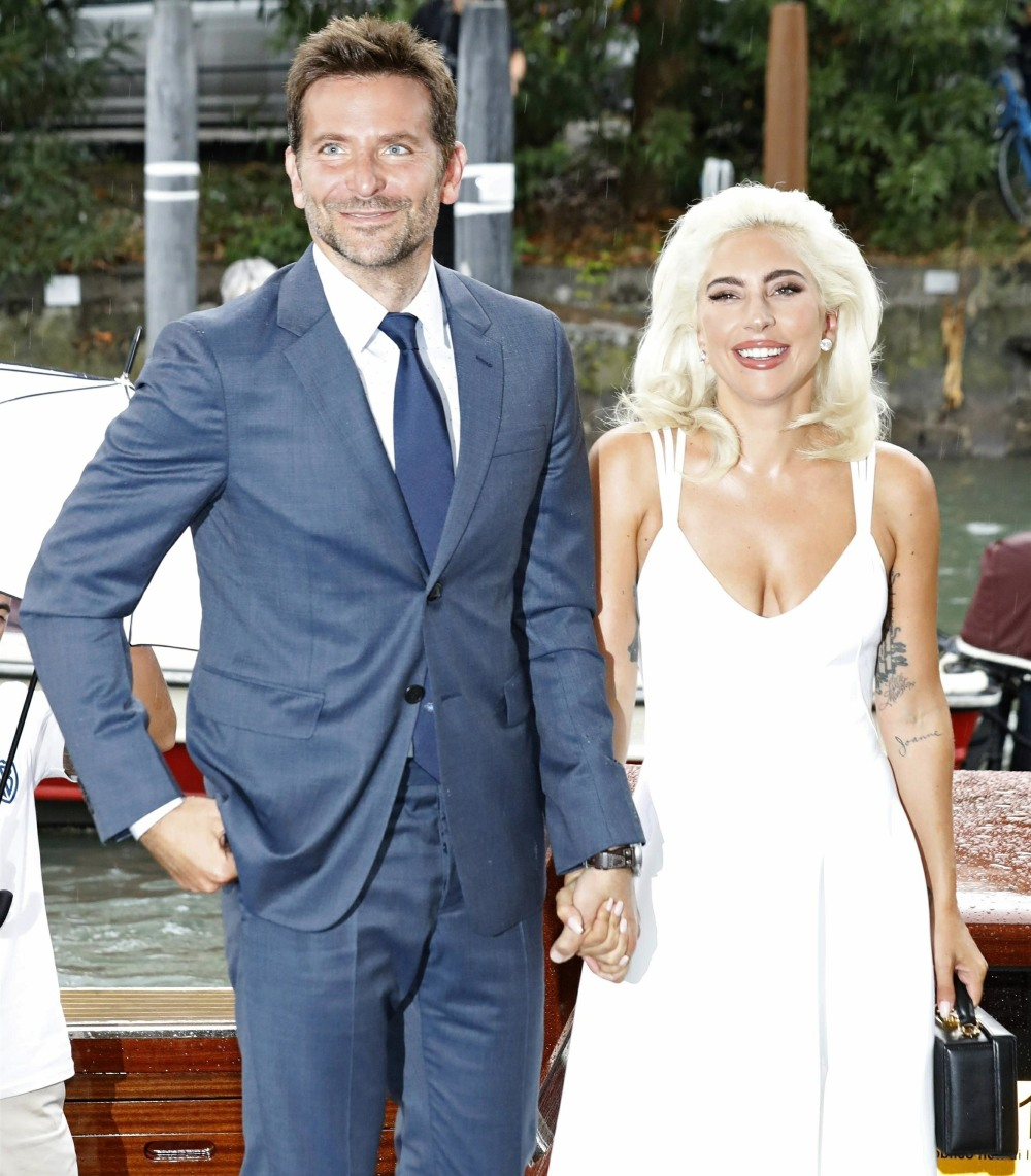 Bradley Cooper and Lady Gaga at 'A Star Is Born' press conference photocall