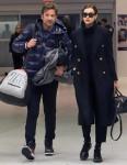 Bradley Cooper and Irina Shayk arrive at JFK airport in NYC