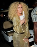 Khloe Kardashian and Kourtney Kardashian leave Diana Ross's 75th birthday party at Warwick