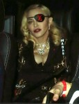 Madonna leaves MTV Studios in London sporting an eye patch