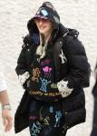 Madonna arriving at JFK Airport