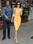 Sexy and stylish Kendall Jenner stops for snacks at a New York deli