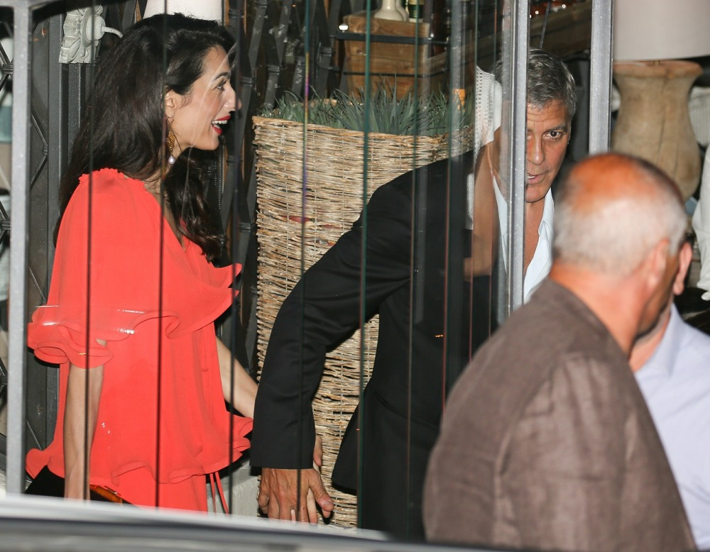 George Clooney and wife Amal Clooney step out for dinner together at Gatto Nero's !